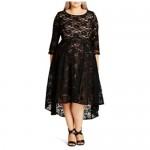 City Chic Women's Apparel Women's Plus Size Dress Lace Lover