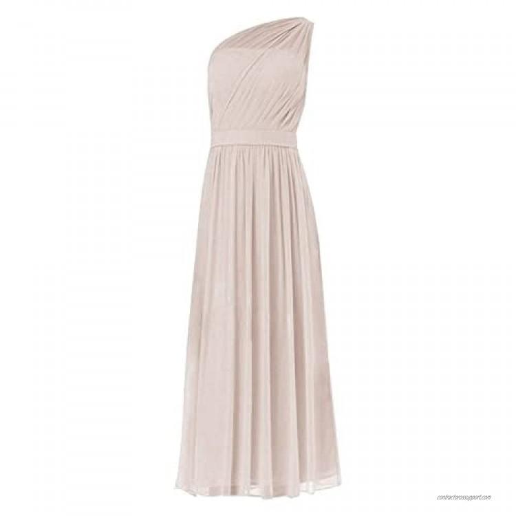 JAEDEN Bridesmaid Dress Long Prom Dress Chiffon Formal Evening Gowns One Shoulder Bridesmaid Dresses