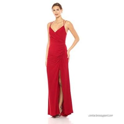 Adrianna Papell Women's Spaghetti Strap Long Matte Jersey Dress