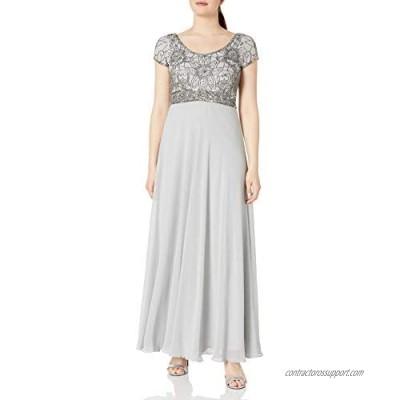 J Kara Women's Long Empire Waist Dress