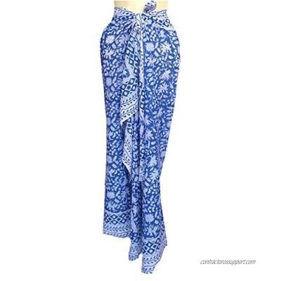 "Rastogi Handicrafts 100% Cotton Hand Block Print Sarong Womens Swimsuit Wrap Cover Up Long (73"" x 44"")"