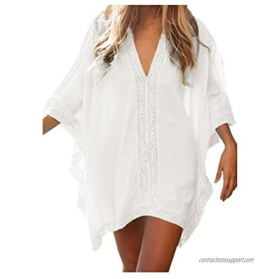 Womens Solid Oversized Swimsuit Cover Up Swimwear Bathing Suit Beach Dress