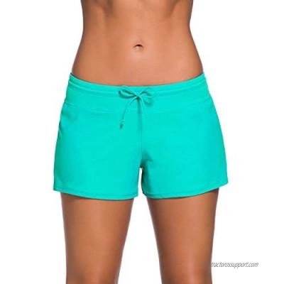 Yallyue Women's Swimwear Boardshort Tankini Swimsuit Bottom Beach Swimwear Trunks Briefs Inner Lining