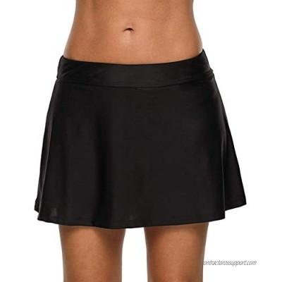 yilisha Womens Mesh Bathing Suit Skirts Bottoms High Waisted Black Tankini Skorts Swim Bikini Bottoms Skirt