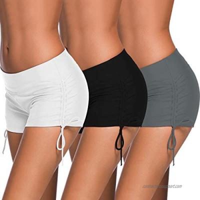 Zhanmai 3 Pieces Women Swimsuit Shorts Tankini Swim Briefs Swimwear Trunk  3 Colors