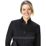 Server Shirts Women's Button-Down Shirt Long Sleeve Button Down Collar Pocket - Style Ava
