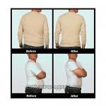 Insta Slim Mens Slimming Compression Muscle Tank Top Body Shaper Abdomen Control Undershirt - MS0001