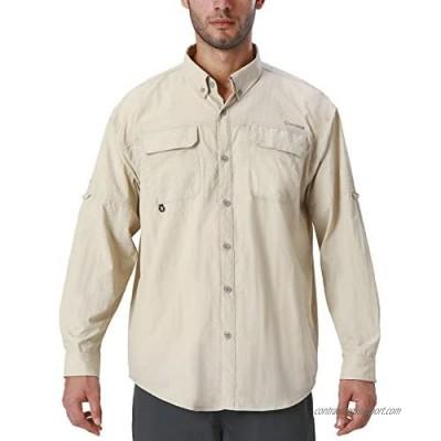 Naviskin Men's UPF 50+ Sun Protection Hiking Fishing Shirt Lightweight Quick Dry SPF Outdoor Long Sleeve Shirt