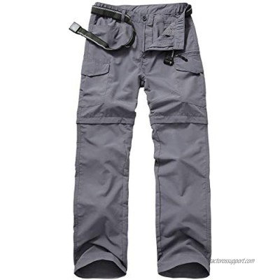 Mens Hiking Pants Quick Dry Lightweight Fishing Pants Convertible Zip Off Cargo Work Pants Trousers