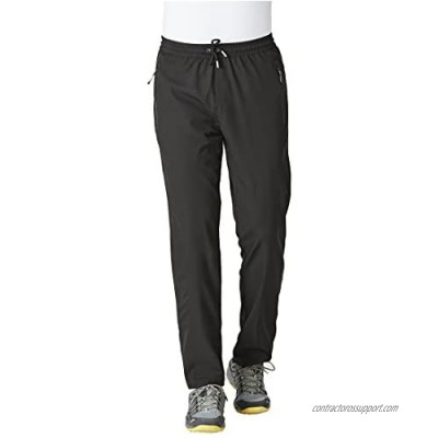 Rdruko Men's Jogger Casual Pants Lightweight Breathable Quick Dry Hiking Running Outdoor Sports Pants