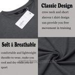 COOFANDY Men 2 Pack Muscle Workout T Shirt Gym Bodybuilding Short Sleeve Tee Top