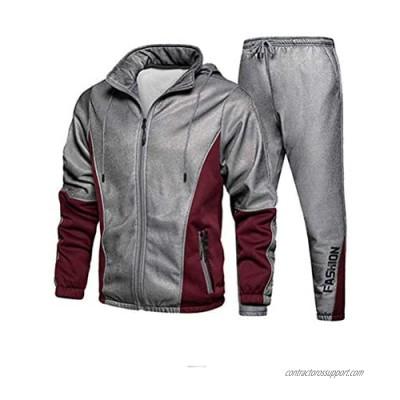 FTCayanz Men's Tracksuit Set Athletic Full-Zip Sweatsuits Casual Sport Jogging Suits Activewear