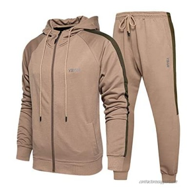 MANLUODANNI Men's Casual Tracksuit Long Sleeve Full-Zip Running Jogging Sports Jacket and Pants