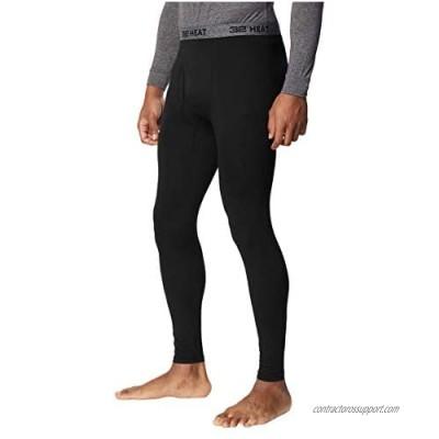 32 DEGREES Mens 2 Pack Heat Performance Thermal Baselayer Pant Leggings  Black/Black