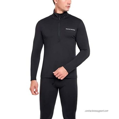 BaseLayer Mechanics - Men's Fleece Lined Base Layers with Stretch (Cold Weather)