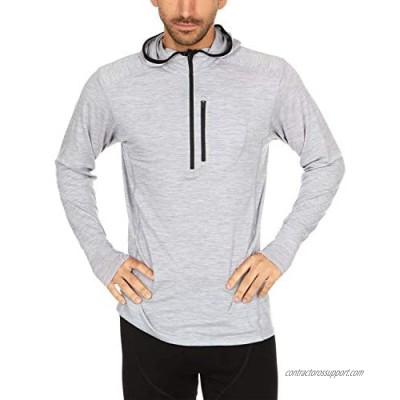 Minus33 Merino Wool 1280 Woolverino Men's Micro ¼ Zip Hoody - 84% Merino Wool  12% Nylon  4% Spandex