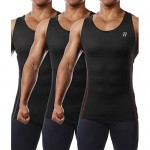 Runhit 3 Pack Men's Compression Tank Tops Sleeveless Compression Shirts for Men