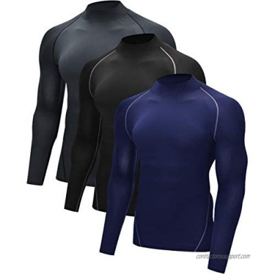 Vogyal Men's Cool Dry Athletic Compression Long Sleeve Baselayer Workout T-Shirts
