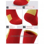 5 Pairs Mens Athletic Crew Socks Basketball Cushioned Thick Sport Long Compression Socks 6.5-11.5