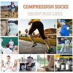 Compression Socks Plantar Fasciitis for Women Men - 8-15 mmHg Best for Athletic Support Flight Travel Nurses Hiking