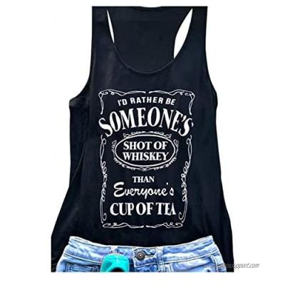 Shot of Whiskey Workout Tank Tops Women Fitness Racerback Teeb Girls Yoga Tee Shirt Vest