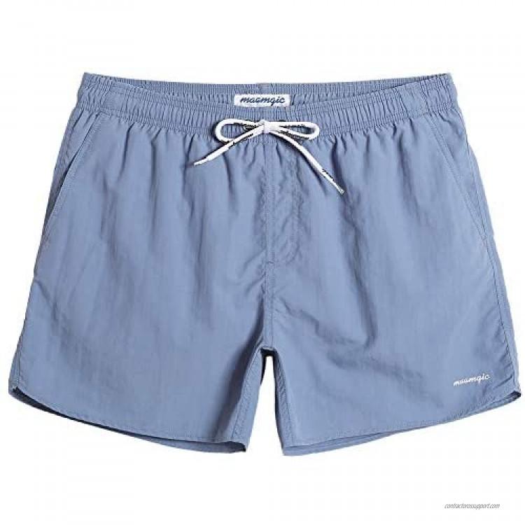 maamgic Mens Swim Trunks 5 with Mesh Lining Quick Dry Bathing Suits for Men Swim Shorts Swimwear