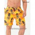 uideazone Men Swim Trunks Drawstring Elastic Waist Quick Dry Beach Shorts with Mesh Lining Swimwear Bathing Suits