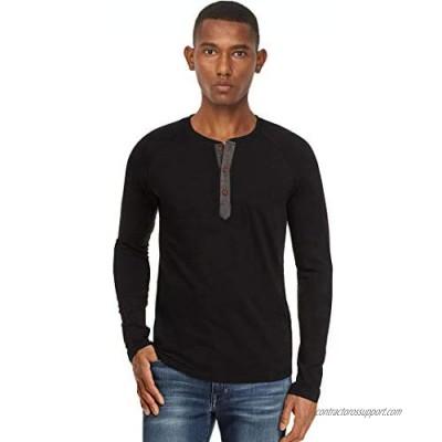 Soojun Men's Henley Long Sleeve Casual Slim Fit Basic Henley T Shirt