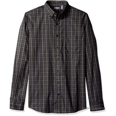 Van Heusen Men's Slim Fit Flex Long Sleeve Button Down Stretch Windowpane Shirt