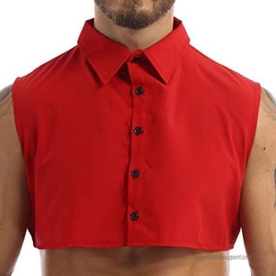 YOOJOO Fake Collar Detachable Dickey Collar Solid Color Half Shirts False Collar for Young Man