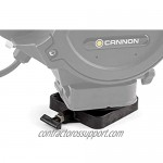 Cannon 2207003 Low-Profile Swivel Downrigger Mounting Base Black Composite