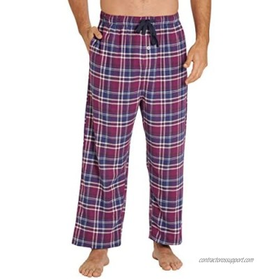 EVERDREAM Sleepwear Mens Flannel Pajama Pants  Long 100% Cotton Pj Bottoms