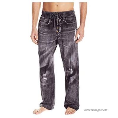Paul Frank Under Disguise Men's Generic Faux Denim Pajama Pant
