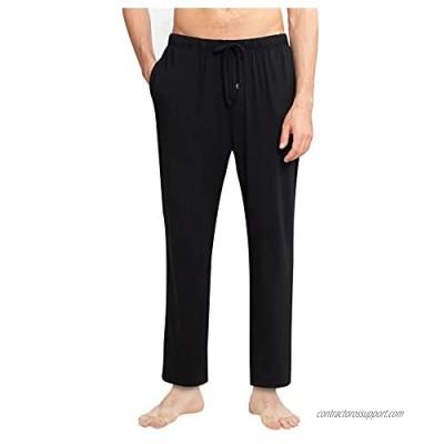 YIMANIE Men's Pajama Pant Cotton Comfy Soft Lounge Sleep Pants Black Navy Gray Red Blue S-XXXL