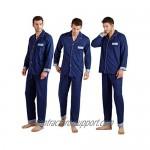 KKQ Mens Pajamas Lightweight Pj Pajama Set for Men 100% Cotton Loungewear Pajamas M L XL