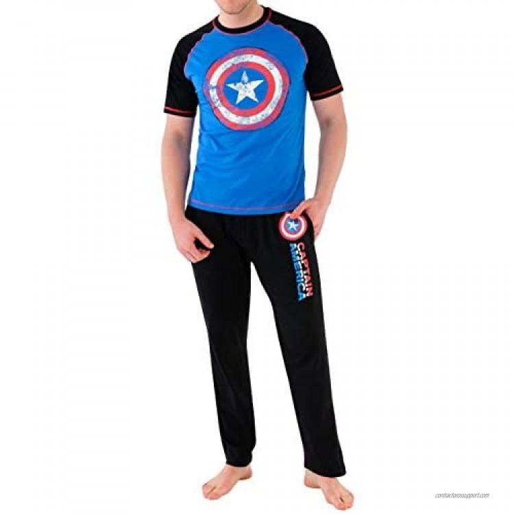 Marvel Mens' Avengers Captain America Pajamas