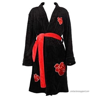 Akatsuki Cosplay Flannel Robe Adult Fleece Pajamas Fashion Mens Bathrobes Woman Winter Long Robe