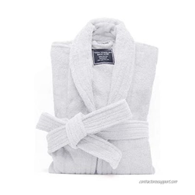 All-Cotton Bathrobe Thick Plush Cloth Housecoat Terry Toweling  Sweat Steaming Clothes Comfortable & Warm