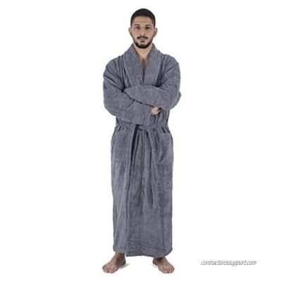 Arvec Men's Turkish Cotton Full Ankle Length Original Terry Shawl Collar Bathrobe