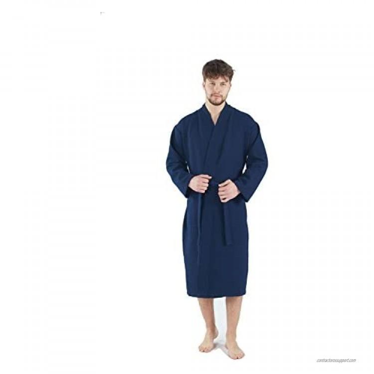 BAGNO MILANO Mens Waffle-Knit Bathrobe – Lightweight Hotel Spa Robe Made in Turkey