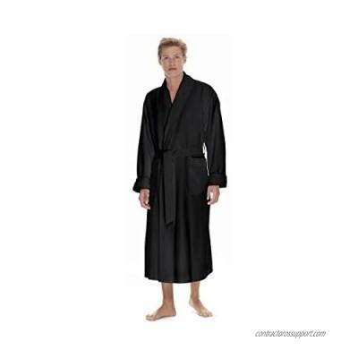 Boca Terry Mens Plush Robe  Big & Tall Bathrobe for Men  Warm Luxury Microfiber Robe