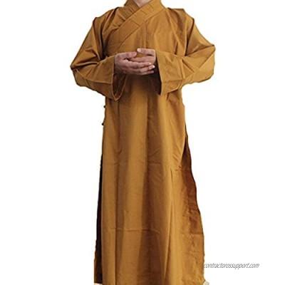 Long Cotton Kung Fu Shaolin Monk Robe Lay Master Zen Buddhist Meditation Gown XL