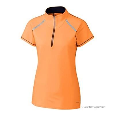 Cutter & Buck Women's Moisture Wicking Drytec UPF 50+ Cap Sleeve Mock Neck Shirt