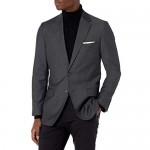 Haggar Men's Signature Herringbone Tailored Fit Two-Button Flap Pocket Suit Separate Coat