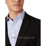 J.M. Haggar Men's 4-Way Stretch Solid Gab Slim Fit Suit Separate Coat Black 42R