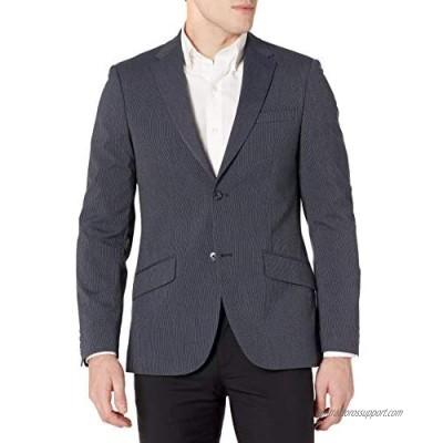 Perry Ellis Men's Slim Fit Machine Washable Striped Suit Jacket