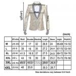 PYJTRL Men's Pink Gold Flower Pattern Wedding Groom Singer Sequins Suit Jacket