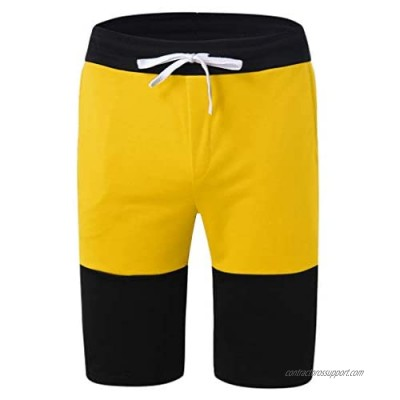 Cardigo Summer New Shorts for Men Casual Sports Slim Color Matching Jogging Five Points
