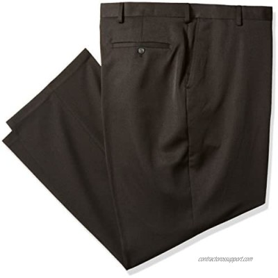 Haggar Men's Big and Tall Big & Tall Travel Performance Heather Expandable Classic Fit Suit Separate Pant