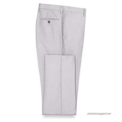 Paul Fredrick Men's Sharkskin Flat Front Suit Pant